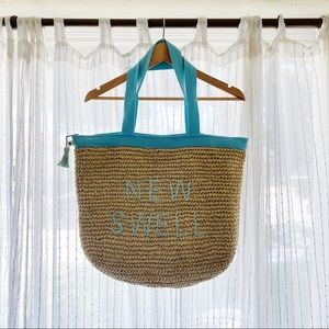 OVERSIZED STRAW BEACH TOTE
